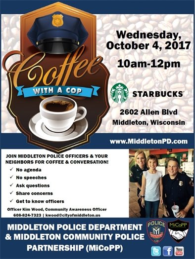 National Coffee With A Cop Day 10-4