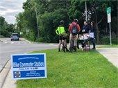 Mead & Hunt sponsored the bike station on Tuesday.