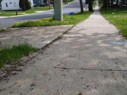Sidewalk Deficiencies Examples | Middleton, WI - Official
