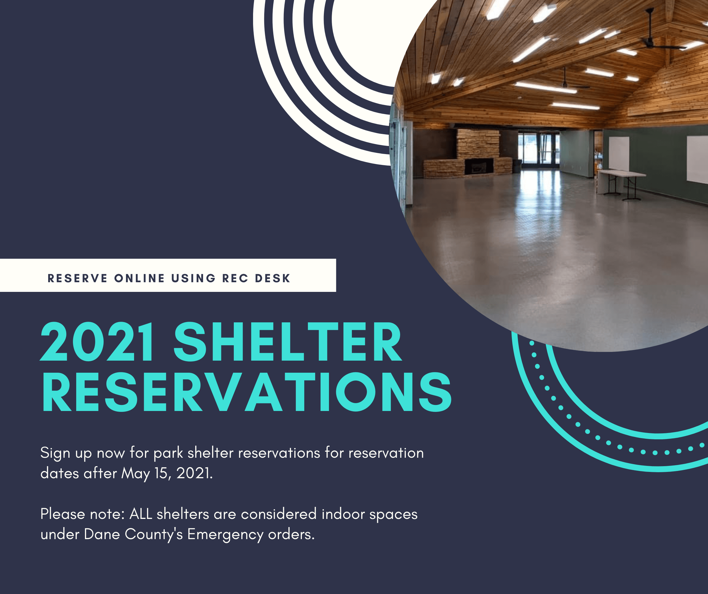 2021 shelter reservations begin Nov 16