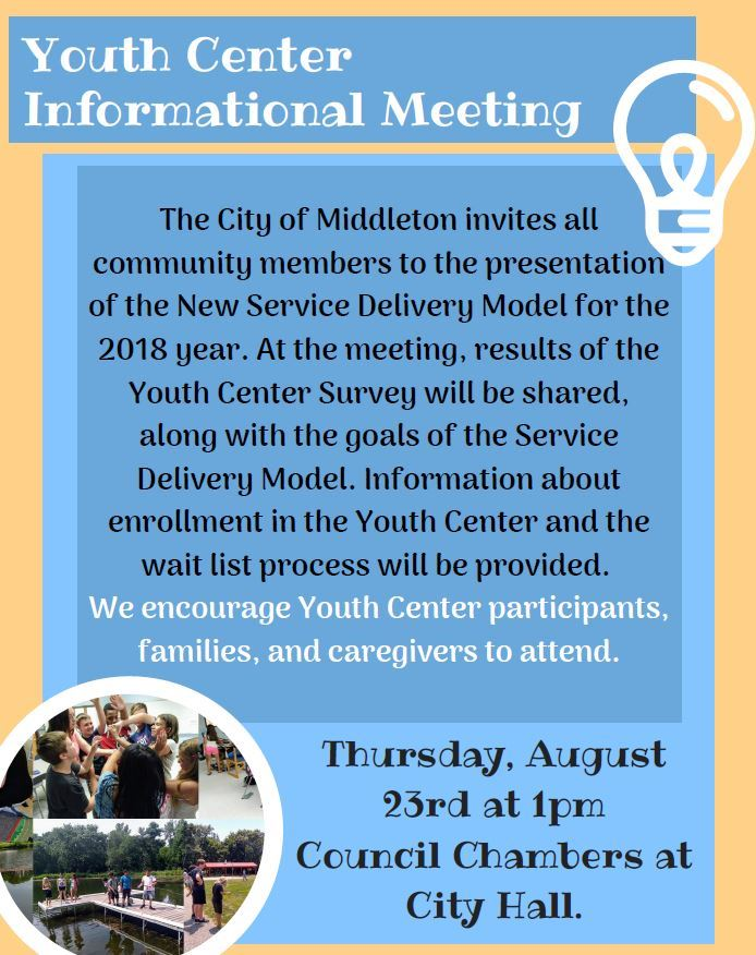 Youth Center Informational Meeting 2018