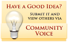 Have a Good Idea - Submit it and view others via Community Voice